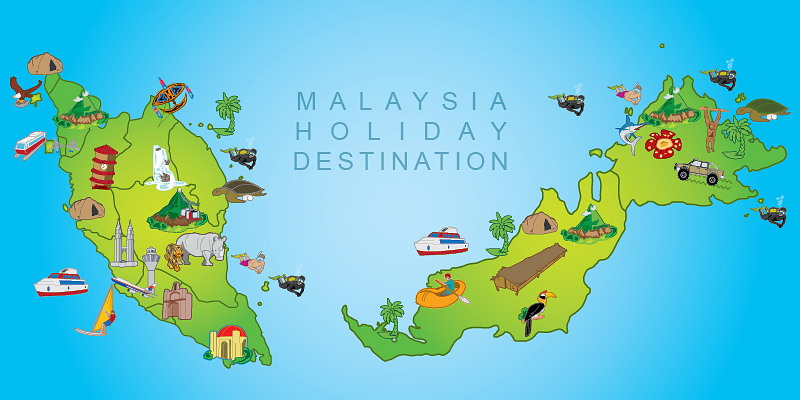 Malaysia Holiday Destination Map