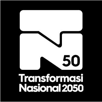 Logo Transformasi Nasional 2050 - TN50 negative