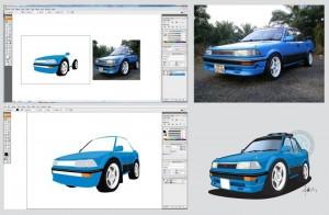 vectorise car