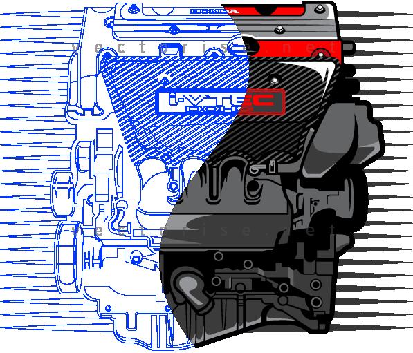 I-VTEC vector illustration