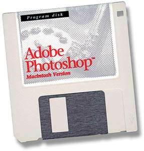 Photoshop 1.0 sell in a single diskete