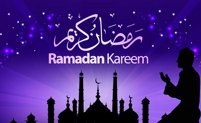 Ramadan Kareem purple