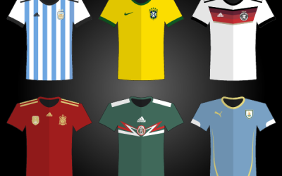 World Cup 2014 Vector Logo, Mascot, Teams Jersey