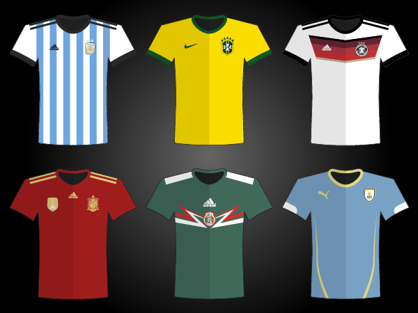 World Cup 2014 Jersey Vector