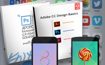 Adobe Design eBooks, iOS 8 & Android Vector UI Kits