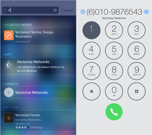 iOS 8 Vector UI Kit