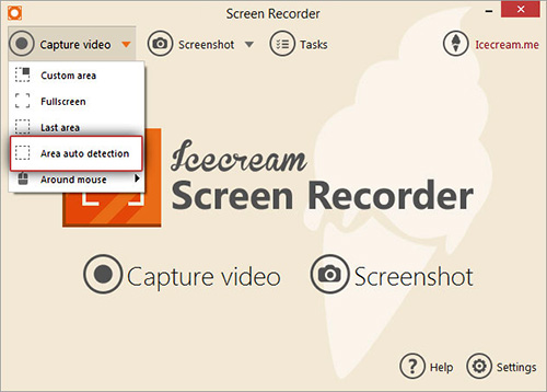 Icecream free screen recording