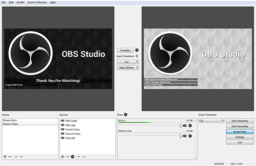 OBS Studio free screen recording