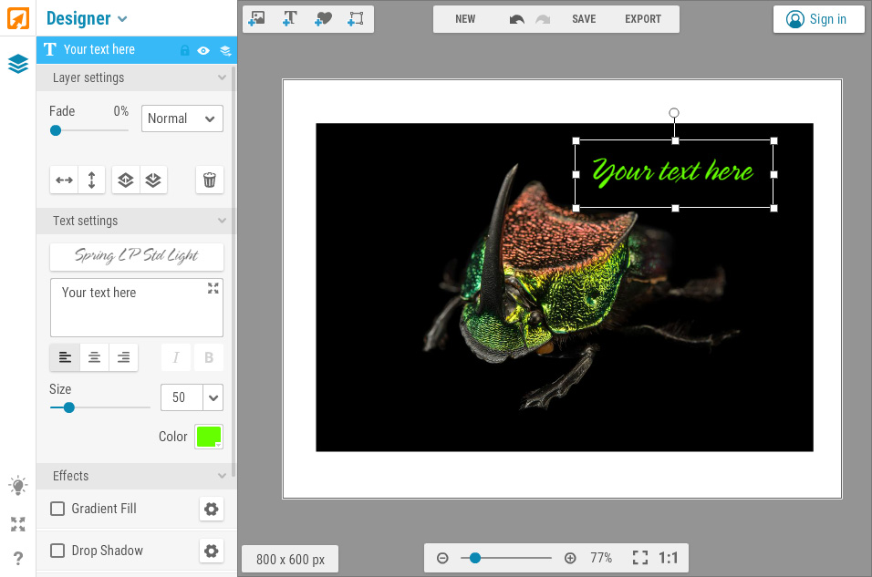 iPiccy Free Online Design Editor