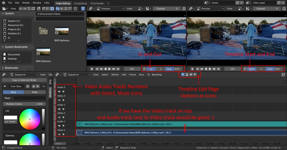 Blender Free Video Editing Software No Watermark