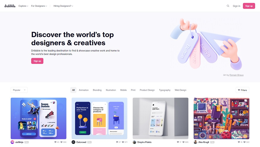 Crowdsourcing Platform Dribbble